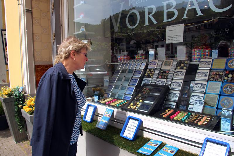 Heidelberg Germany, Shopping for Chocolates