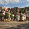 Heidelberg Germany, Square With View on Castle