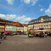 Heidelberg Germany, Market Square with Cafe