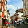 Heidelberg Germany, Shoppers on Street