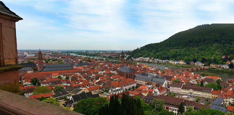Heidelberg Germany,  Panoramic View from Castle