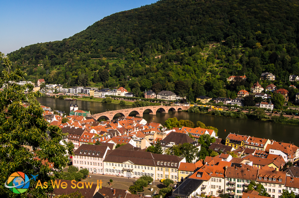View from Heidelberg Castle of Heidelberg, Germany.