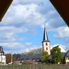 Hochheim Germany, View from the Covered Wagon Winery Tour