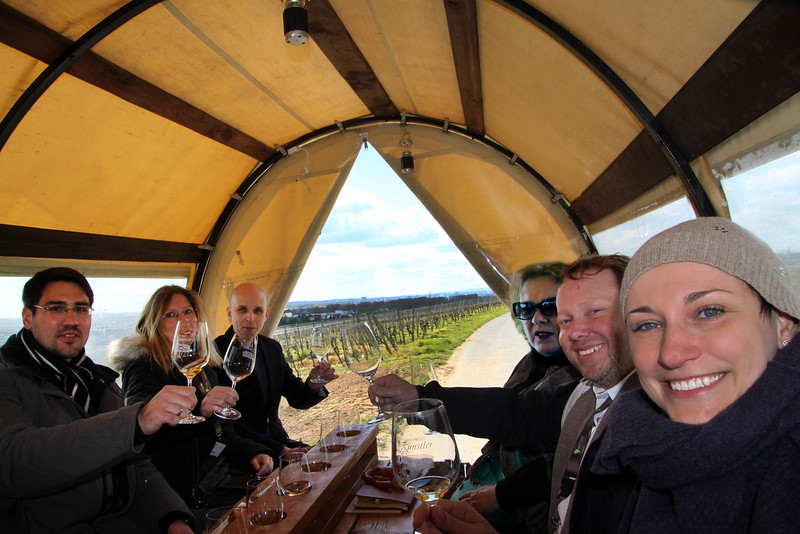 Hochheim Germany, Covered Wagon Ride Through Vineyards