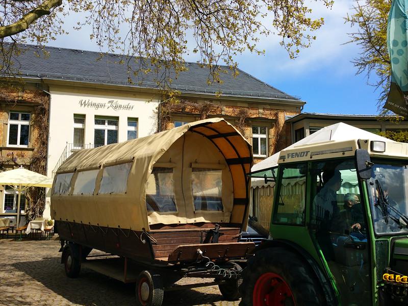 Hochheim Germany, Covered Wagon Winery Tour, Kuenstler Winery