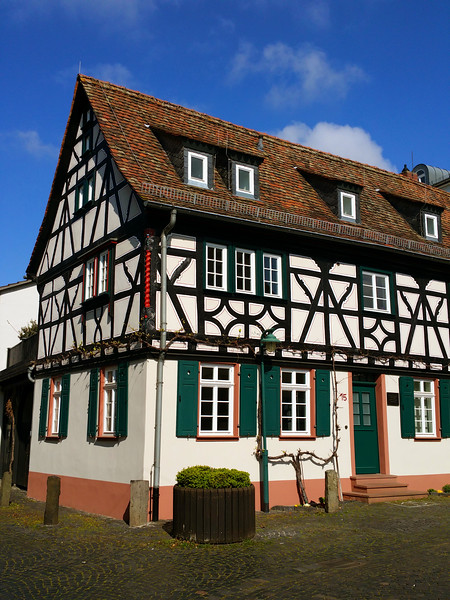 Hochheim Germany, Old Timbered House