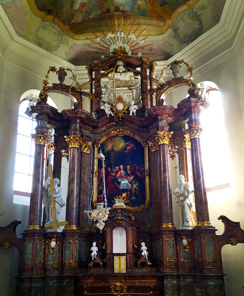Hochheim Germany, St. Peter and Paul. Baroque Altar