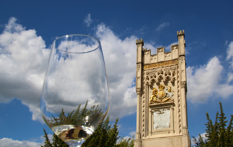 Hochheim Germany,  Flick Winery Reisling & Monument to Queen Victoria's Visit