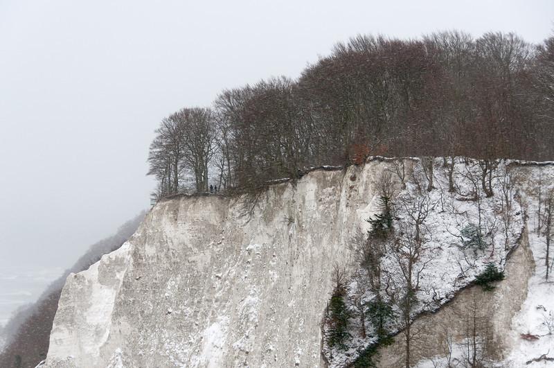 Steep chalk cliffs at Jasmund National Park in Sassnitz, Germany