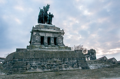 Statue of Emperor William I in the City of Koblenz, Germany