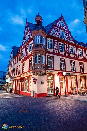 Half-timbered building in Koblenz, Germany.