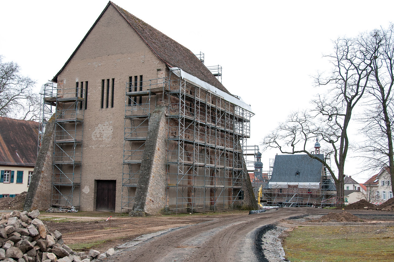 Ongoing construction work at Lorsch, Germany