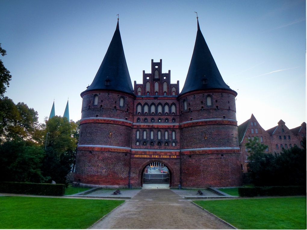 The Pride Of Lubeck, Germany's Crooked City Gate: The Holstentor