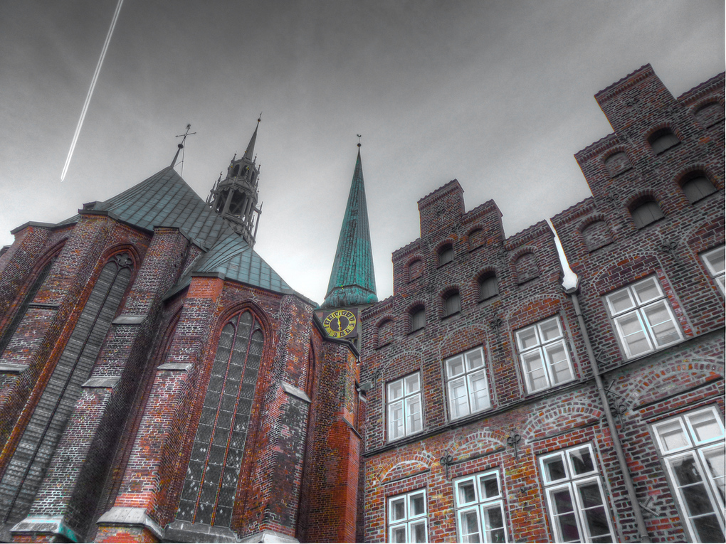 outside st. marys church lubeck germany