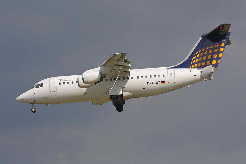 D-AJET BAe 146-200 c/n E2201 Brussels/EBBR/BRU 31-05-09