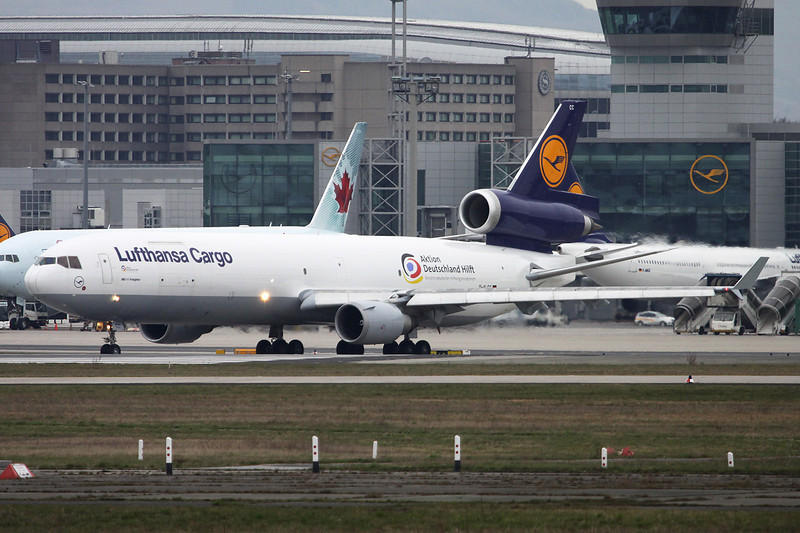 "D-ALCC McDonnell-Douglas MD-11F c/n 48783 Frankfurt/EDDF/FRA 14-04-13 ""Aktion Deutschland Hilft"""