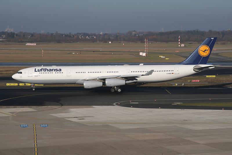 D-AIGO Airbus A340-313X c/n 354 Dusseldorf/EDDL/DUS 30-01-09