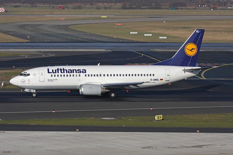 D-ABEL Boeing 737-330 c/n 25415 Dusseldorf/EDDL/DUS 30-01-09