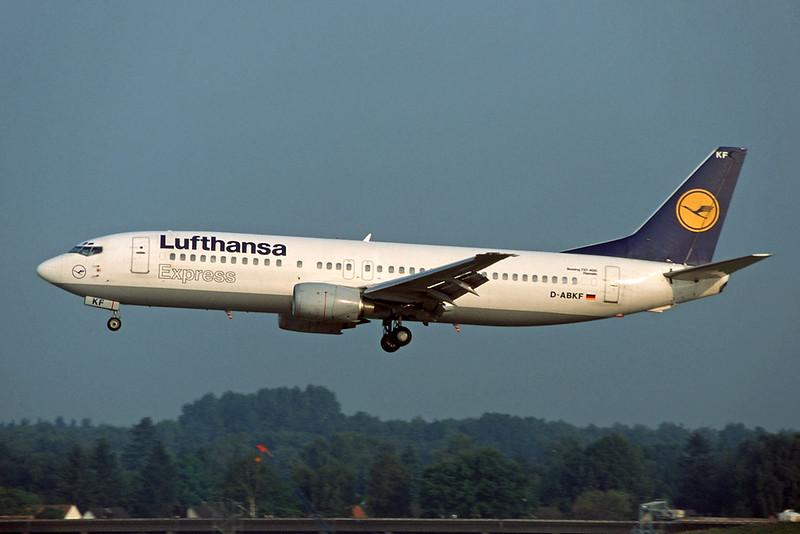 D-ABKF Boeing 737-430 c/n 27004 Hamburg/EDDH/HAM 16-09-95 (35mm slide)