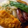 Michelstadt Germany, Zum Gruenen Baum, Spring Sausage Plate