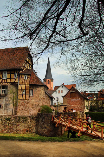Michelstadt Germany, Castle Bridge