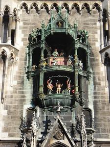Glockenspiel at Neues Rathaus, Munich - Germany.