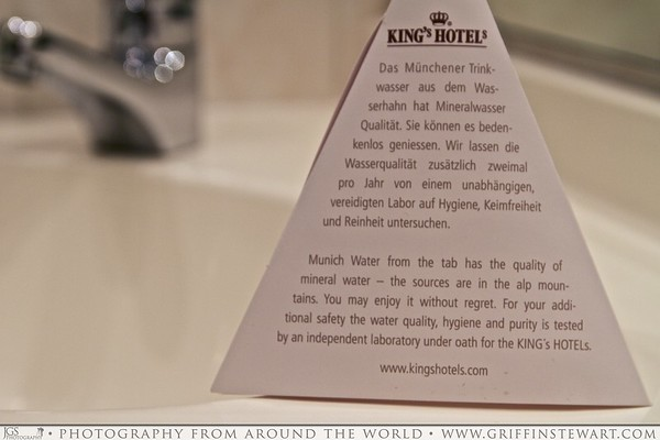 King's Hotel Tap Water