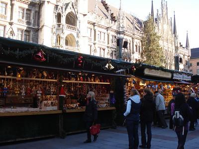 Christmas Market at Marienplatz, Munich - Germany.