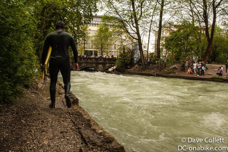 Urban river surfing