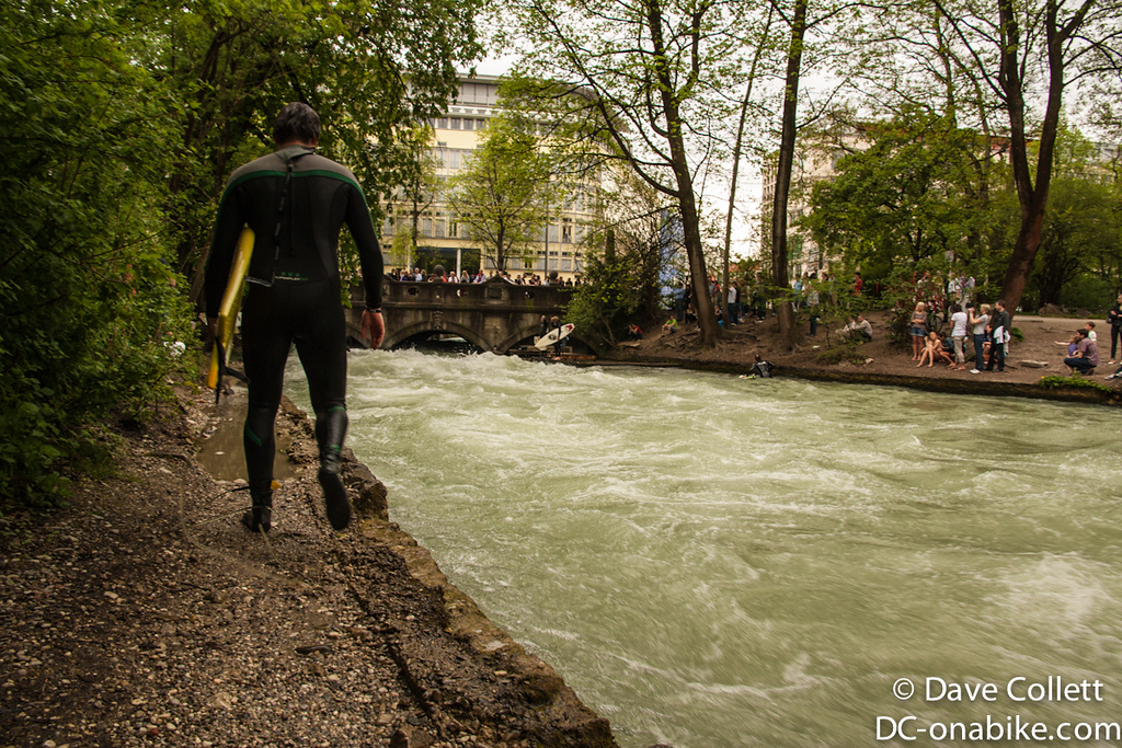 Urban river surfing