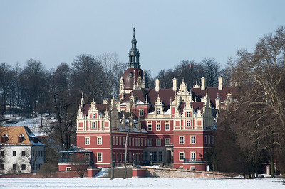 The New Castle in Muskauer Park in Germany