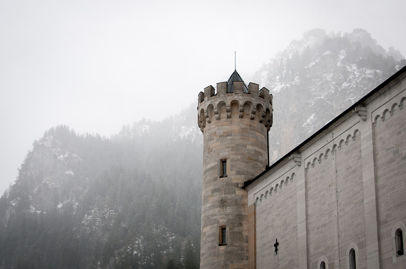 The tower at Neuschwanstein Castle in Germany