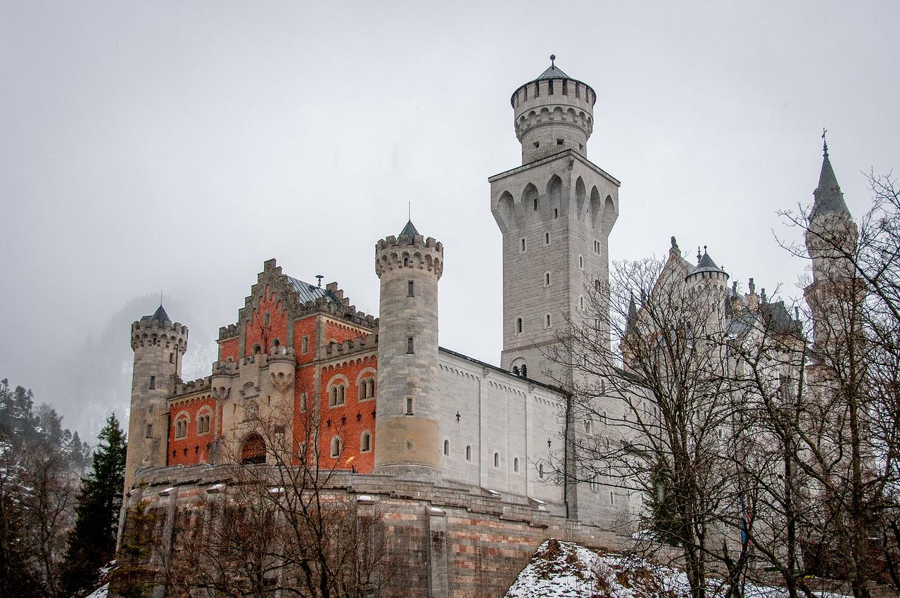 Beautiful architecture of Neuschwanstein Castle in Germany