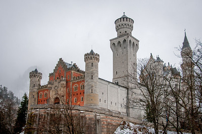 Beautiful architecture of Neuschwanstein Castle in Germany