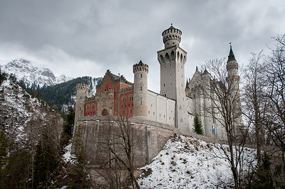 Picturesque snow at Neuschwanstein Castle in Germany