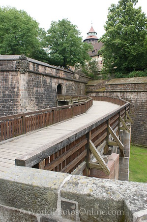 Nuremberg - Imperial Castle - Wooden Bridge (curved to make use of battering ram difficult)