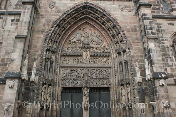 Nuremberg - St  Lorenz (medieval) Church - Main Door