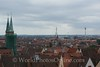 Nuremberg - Imperial Castle - View of City