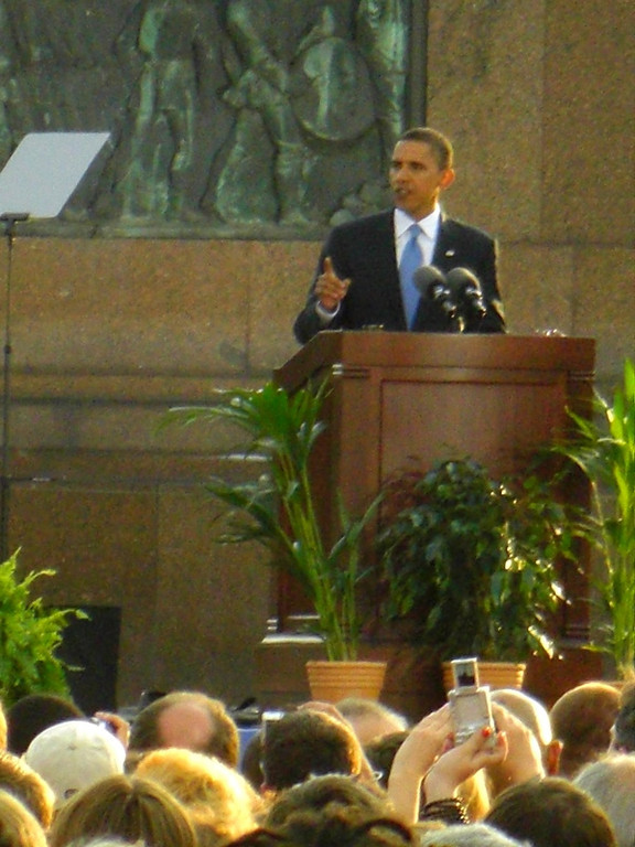 Barack Obama Giving A Speech - Berlin, Germany