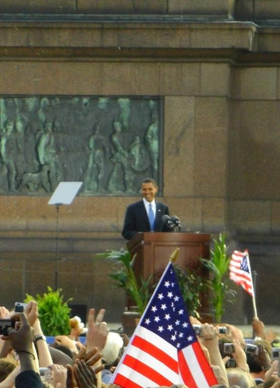 Barack Obama Speaks at the Tiergarten - Berlin, Germany