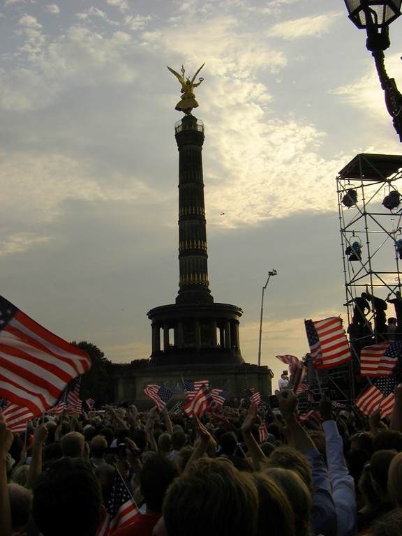 American Flags at Obama's Speech - Berlin, Germany