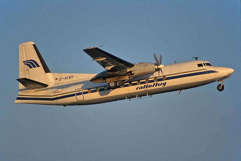 "D-AISY Fokker F.27-600 Friendship ""Ratioflug"" c/n 10391 Frankfurt/EDDF/FRA 01-02-97"
