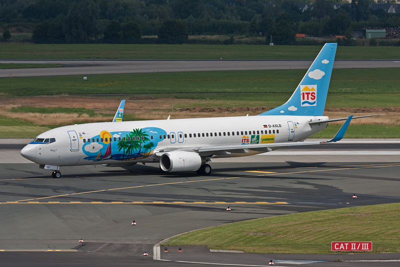 "D-AXLD Boeing 737-8FH ""XL Airways Germany"" c/n 35093 Dusseldorf/EDDL/DUS ""ITS-Ferienflieger"""