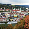 Germany, Passau, View on City from Castle