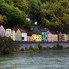Germany, Passau, Colorful Houses Along the Danube