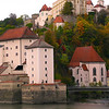 Germany, Passau, View on Confluence Point of the Danube