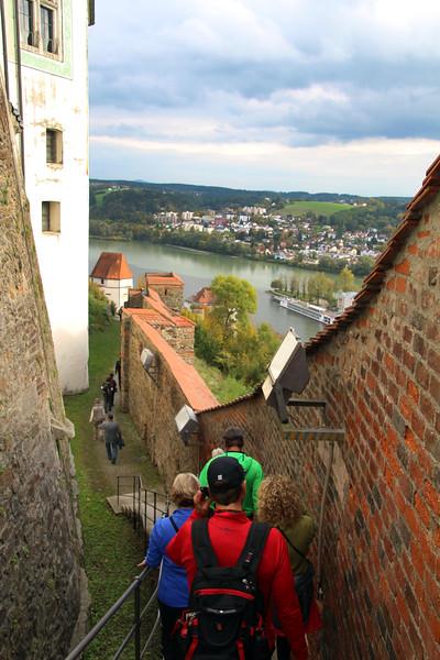 Germany, Passau, Hiking along the Fortress walls