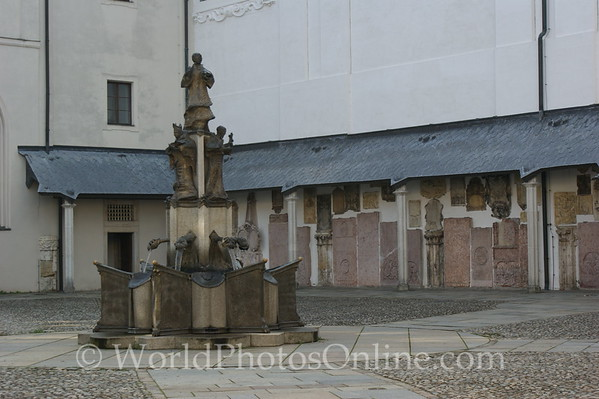 Passau - St Stephan's Cathedral - Courtyard Fountain