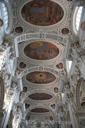 Passau - St Stephan's Cathedral - Ceiling