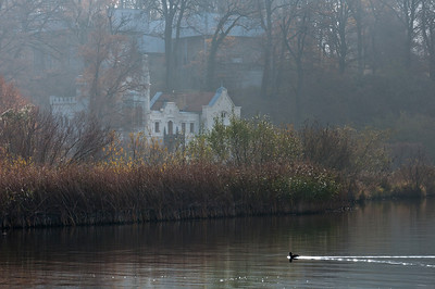 Houses near the lake in Potsdam, Germany